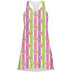 Butterflies & Stripes Racerback Dress (Personalized)