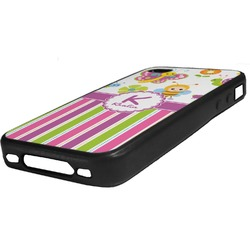 Butterflies & Stripes Rubber iPhone Case 4/4S (Personalized)