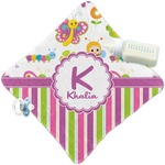 Butterflies & Stripes Security Blanket (Personalized)