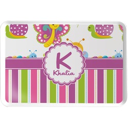 Butterflies & Stripes Serving Tray (Personalized)