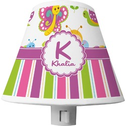 Butterflies & Stripes Shade Night Light (Personalized)