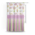 Butterflies & Stripes Sheer Curtains (Personalized)