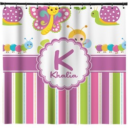 Butterflies & Stripes Shower Curtain (Personalized)