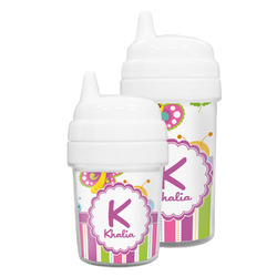 Butterflies & Stripes Sippy Cup (Personalized)