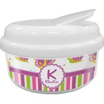 Butterflies & Stripes Snack Container (Personalized)