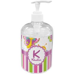 Butterflies & Stripes Acrylic Soap & Lotion Bottle (Personalized)
