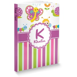 """Butterflies & Stripes Softbound Notebook - 7.25"""" x 10"""" (Personalized)"""