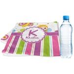 Butterflies & Stripes Sports & Fitness Towel (Personalized)