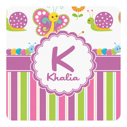 Butterflies & Stripes Square Decal - Custom Size (Personalized)