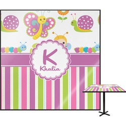 Butterflies & Stripes Square Table Top (Personalized)