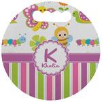 Butterflies & Stripes Stadium Cushion (Round) (Personalized)