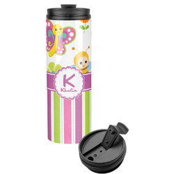 Butterflies & Stripes Stainless Steel Tumbler (Personalized)