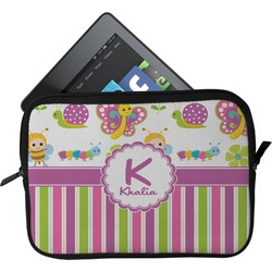 Butterflies & Stripes Tablet Case / Sleeve (Personalized)