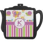 Butterflies & Stripes Teapot Trivet (Personalized)