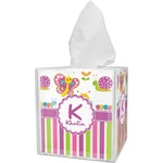 Butterflies & Stripes Tissue Box Cover (Personalized)
