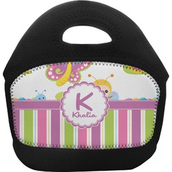 Butterflies & Stripes Toddler Lunch Tote (Personalized)