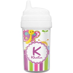 Butterflies & Stripes Toddler Sippy Cup (Personalized)