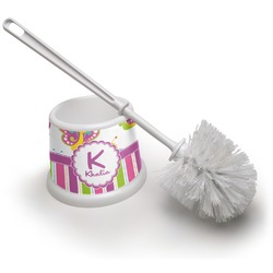 Butterflies & Stripes Toilet Brush (Personalized)