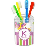 Butterflies & Stripes Toothbrush Holder (Personalized)