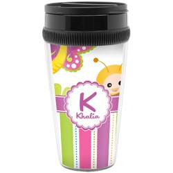 Butterflies & Stripes Travel Mugs (Personalized)