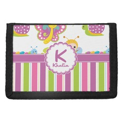 Butterflies & Stripes Trifold Wallet (Personalized)