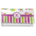 Butterflies & Stripes Vinyl Checkbook Cover (Personalized)