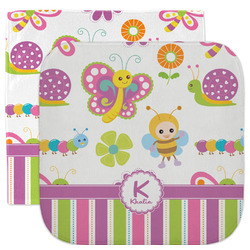 Butterflies & Stripes Facecloth / Wash Cloth (Personalized)
