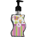 Butterflies & Stripes Wave Bottle Soap / Lotion Dispenser (Personalized)