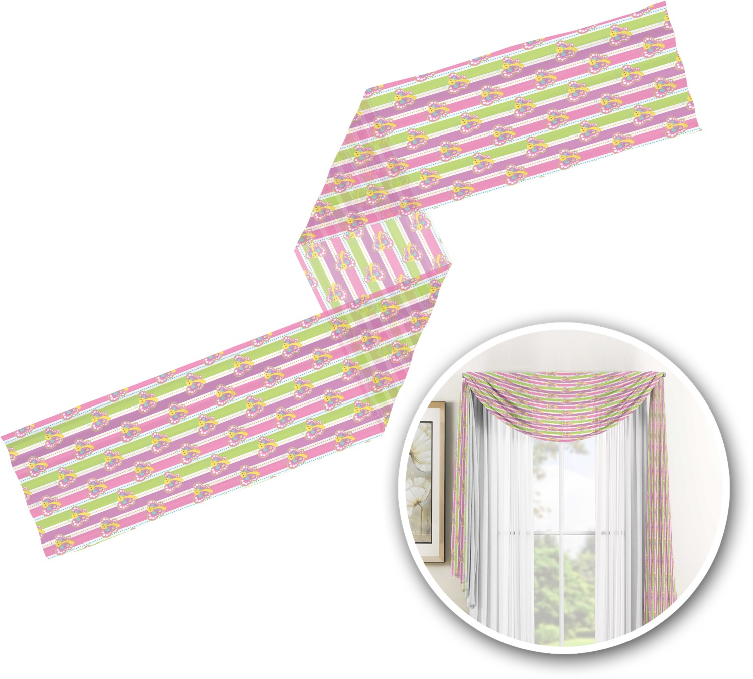 bedroom ideas for teens butterflies amp stripes window sheer scarf valance 31295