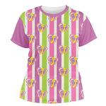 Butterflies & Stripes Women's Crew T-Shirt (Personalized)