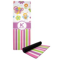 Butterflies & Stripes Yoga Mat (Personalized)