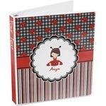 Ladybugs & Stripes 3-Ring Binder (Personalized)