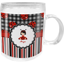 Ladybugs & Stripes Acrylic Kids Mug (Personalized)