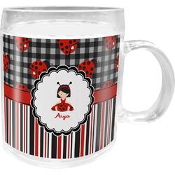 Ladybugs & Stripes Acrylic Kids Mug (Personalized)