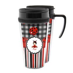 Ladybugs & Stripes Acrylic Travel Mugs (Personalized)
