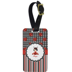 Ladybugs & Stripes Aluminum Luggage Tag (Personalized)