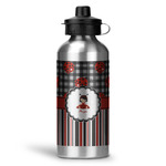 Ladybugs & Stripes Water Bottle - Aluminum - 20 oz (Personalized)