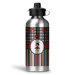 Ladybugs & Stripes Water Bottle - Aluminum - 20 oz (Personalized)