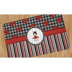 Ladybugs & Stripes Area Rug - 5'x8' (Personalized)