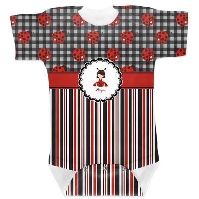 Ladybugs & Stripes Baby Bodysuit (Personalized)