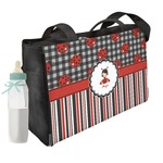 Ladybugs & Stripes Diaper Bag (Personalized)