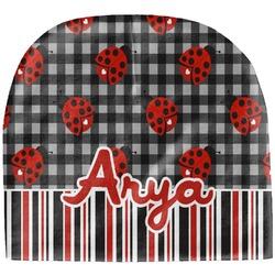 Ladybugs & Stripes Baby Hat (Beanie) (Personalized)
