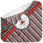 Ladybugs & Stripes Baby Hooded Towel (Personalized)