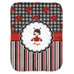 Ladybugs & Stripes Baby Swaddling Blanket (Personalized)
