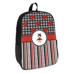 Ladybugs & Stripes Kids Backpack (Personalized)