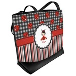 Ladybugs & Stripes Beach Tote Bag (Personalized)