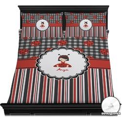 Ladybugs & Stripes Duvet Covers (Personalized)