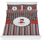 Ladybugs & Stripes Comforter Set (Personalized)