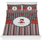 Ladybugs & Stripes Comforter Set (Personalized)