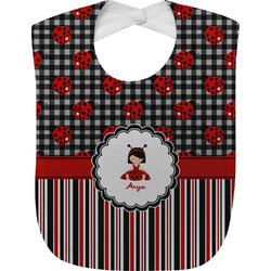 Ladybugs & Stripes Baby Bib (Personalized)